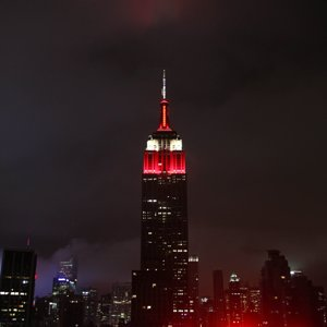 Empire State Bldg on congratulates Alabama on national title