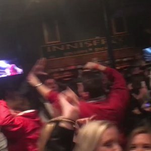 Fans react after Alabama scores game-winning TD at Innisfree in Tuscaloosa.