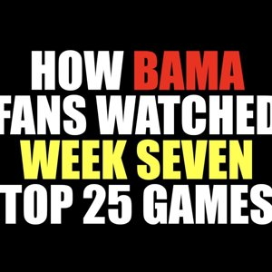 How Bama Fans Watched Week Seven Games 2018
