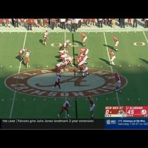 Week 2 - New Mexico State @ Alabama -- (09/07/2019)